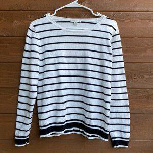 J Crew Mercantile Black and White Stripe Sweater